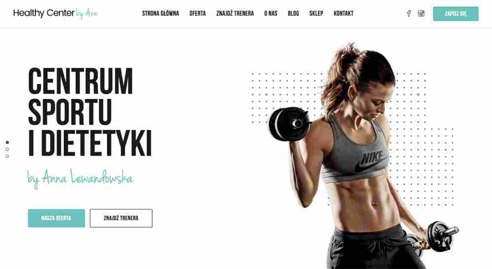 Healthy Center by Ann - fitness - widok na komputerze